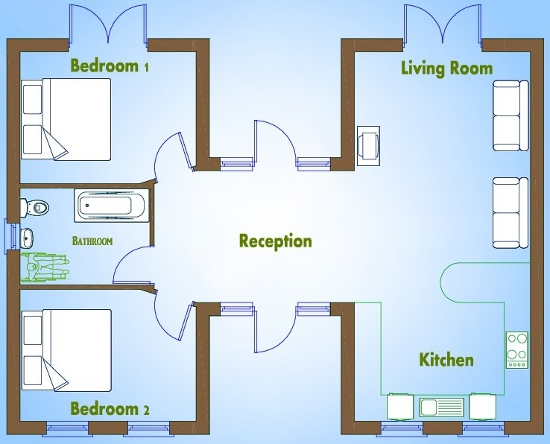 Bed House Plans Available From Xplan Irelands Online House - Simple 2 bedroom house design