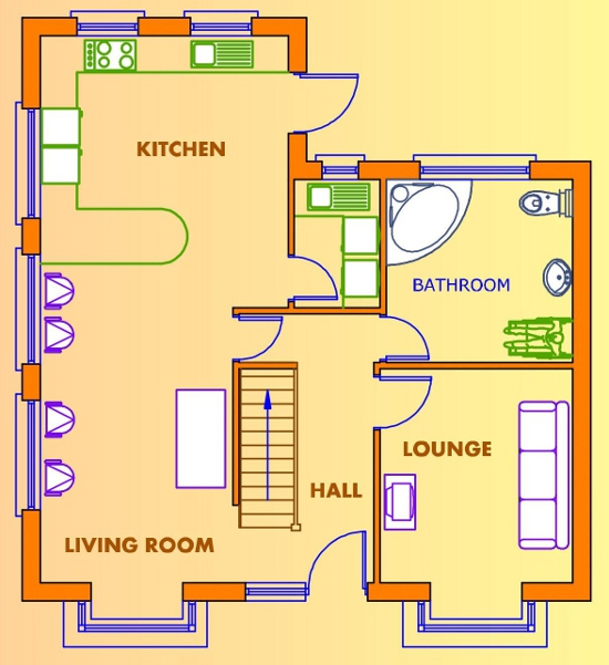 2 Bed House Plans Available From Xplan Ireland S Online House Plans Provider Irish House Plans