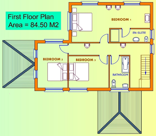 3 beds house plans available from xplan ireland s online House floor plans online