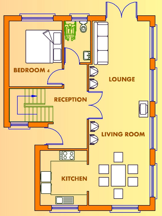 4 beds house plans available from Xplan Irelands Online House